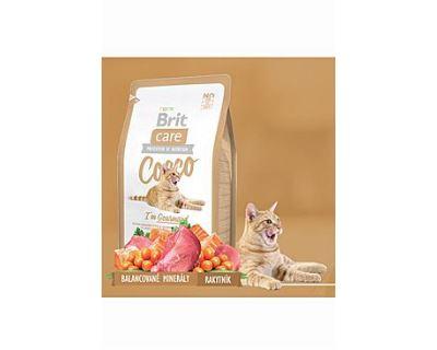 Brit Cat Cocco I`am Gourmand - kačica & losos pre prieberčivé mačky 2 kg