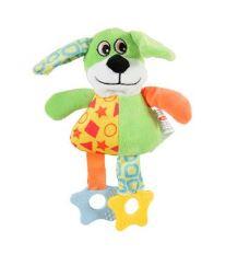 Hračka pes DOG COLOR plyš zelená 22cm Zolux