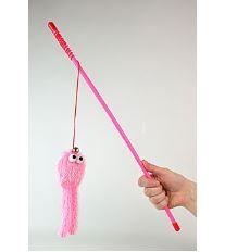 Hračka Kočka Udice Pink Okta 47cm 1ks Li