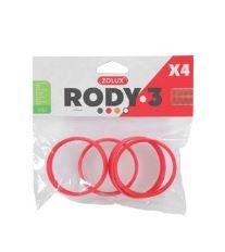 Komponenty Rody 3-spojovací kroužek červený 4ks Zolux