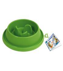 Plastová miska proti hltání s protiskluzem Argi - zelená - 31,5 x 9 cm