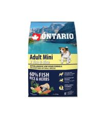 ONTARIO Dog Adult Mini Fish & Rice