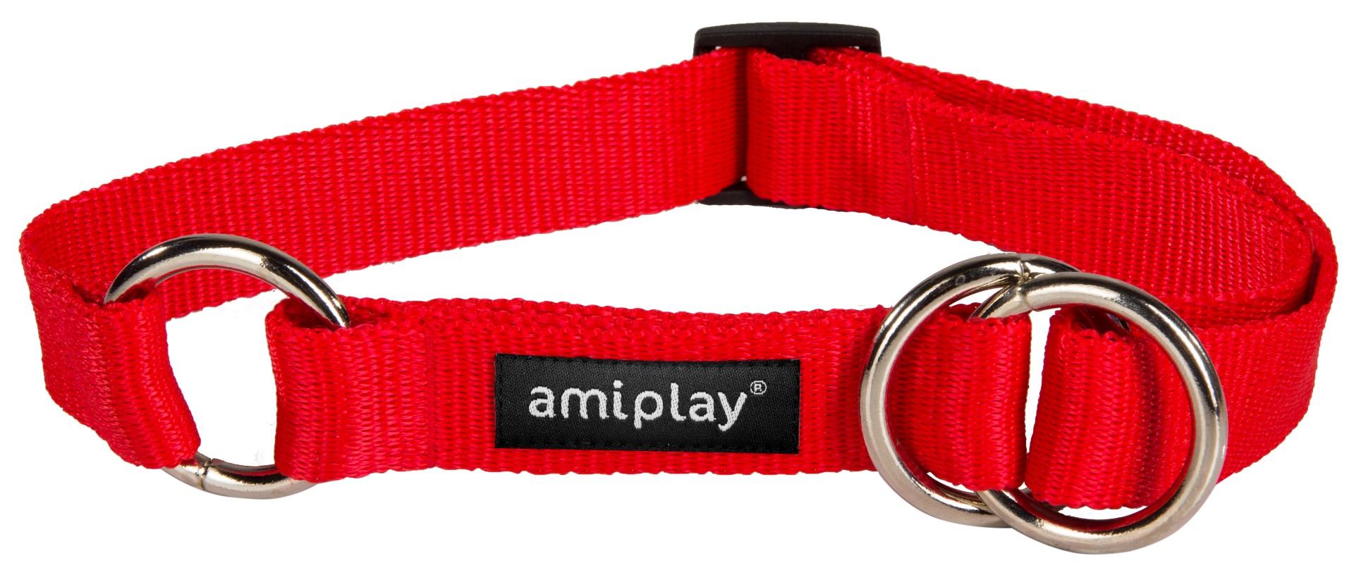 Obojek pro psa polostahovací nylonový - červený - 1 e42119a610