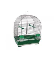 Klietka BIRD JEWEL KS8 šedá + zelená 40 x 25,5 x 47,5 cm