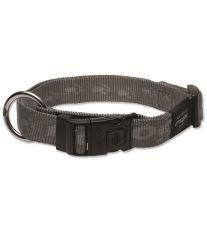 Obojek pro psa - nylonový - Rogz Alpinist - stříbrný - 2,5 x 43 - 70 cm
