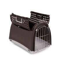 Prepravka pre mačky a psy Cabrio Argi - hnedá - 50x32x34,5 cm