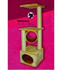 Tommi Traviata Škrabadlo pre mačky pieskové, 35x35x109 cm