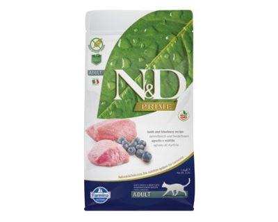 N&D Grain Free Cat Adult Lamb & Blueberry - jahňacie & čučoriedky bezobilné pre dospelé mačky 1,5 kg