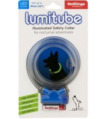 Obojok pre psov svietiace - Red Dingo Lumitube led - modrý - 15 - 80 cm