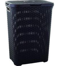 Curver koš na špinavé prádlo, STYLE, hnědý, 60l