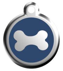 Red Dingo Známka modrá vzor kosť