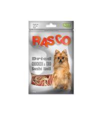 Pochoutka RASCO Dog sushi z kuřete a tresky 80 g