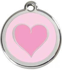 Red Dingo Známka ružová vzor srdca