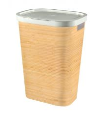 Curver Koš na špinavé prádlo INFINITY 59L vzor bambus