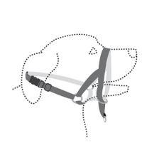 Flamingo Easy leader nylonová ohlávka proti ťahaniu čierna - veľkosť XL
