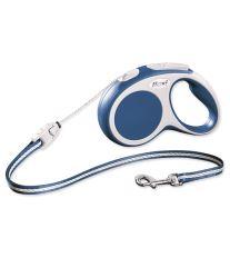 Flexi Vario Samonavíjecí vodítko lankové modré - 5m/12kg
