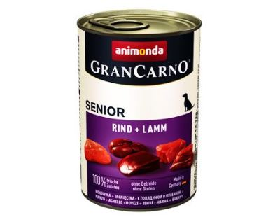 Animonda Gran Carno Senior Konzerva - teľacie & jahňacie 400 g