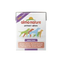 Almo Nature Daily Menu WET DOG - Tuňák a losos 375g tetrapack