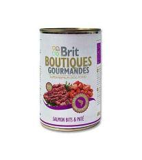 Brit Boutiques Gourmandes Salmon Bits & Paté - losos v kréme 400 g