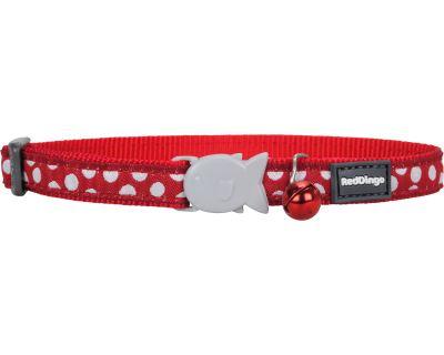 Red Dingo White Spots on Red Obojok pre mačku