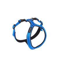 Postroj pro psa nylonový reflexní - modrý - 1 x 23 x 31 - 38 cm