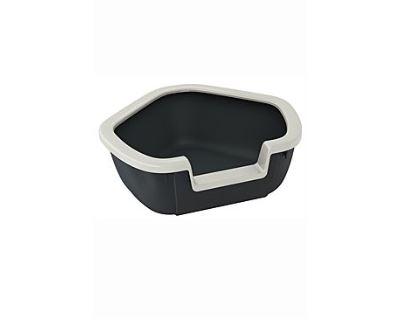WC mačka rohové s rámom DAMA 57,5x51,5x22 cm FP