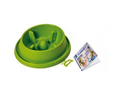 Plastová miska proti hltání s protiskluzem Argi - zelená - 25,5 x 23 x 6,5 cm