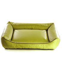 Pelech pre psa Argi obdĺžnikový - odnímateľný povlak z ekokoža - zelený - 90 x 70 cm