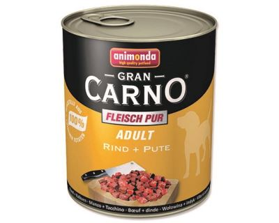 Konzerva pre psov Animonda Gran Carno - hovädzie + morka 800 g
