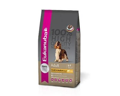 Eukanuba Adult Small & Medium Lamb & Rice - jahňacie & ryža pre dospelých psov malých a stredných plemien 1 kg