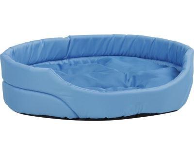 Pelech pre zvieratá Argi oválny s vankúšom - modrý - 40 x 30 x 12 cm
