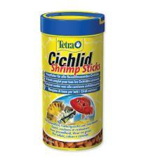 Tetra Cichlid Shrimp Sticks krmivo s krevetami pre mäsožravé ryby 250 ml