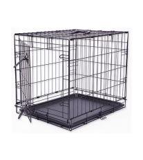 Klec DOG FANTASY skládací černá 1 dveře