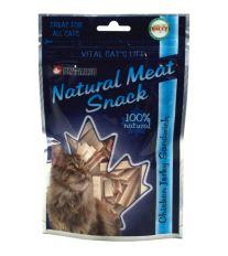 Maškrty pre mačky - kuracie mäso s treskou Ontario Snack Chicken Jerky Sandwich - pre mačky 70 g