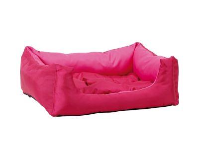 Pelech pre zvieratá Argi obdĺžnikový s vankúšom - růžový - 40 x 30 x 17 cm