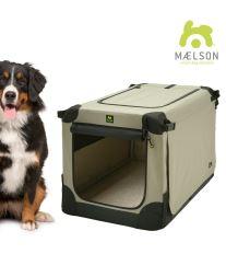 Prepravka pre psov Maelson - čierno-béžová - veľkosť XXXL, 120x77x86 cm - POŠKODENÝ OBAL