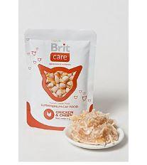 Brit Cat Pouches Chicken & Cheese - kapsička kura & syr pre mačky 80 g