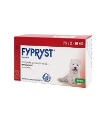 Fypryst Spot-on Dog S sol 3x0,67ml (2-10kg)