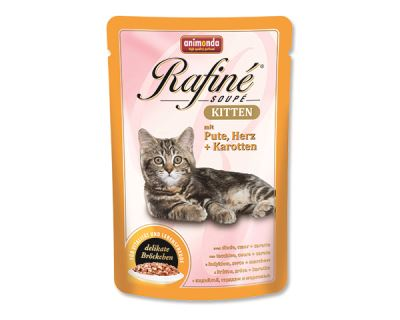 Animonda Rafiné Soupe Kitten Kapsička - morka & srdce & mrkva pre mačiatka 100 g