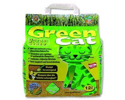 Green Cat hrudkujúce bezprašný kočkolit 12 l