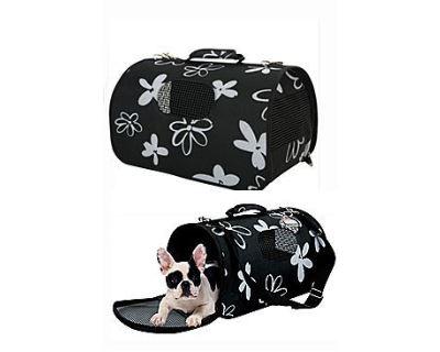 Zolux Flower Cestovná taška čierna, 21x36x24 cm - veľkosť S