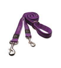 Vodítko pre psov prepínacie nylonové - Rogz Fancy Dress Purple Chrome - 2,5 x 160 cm