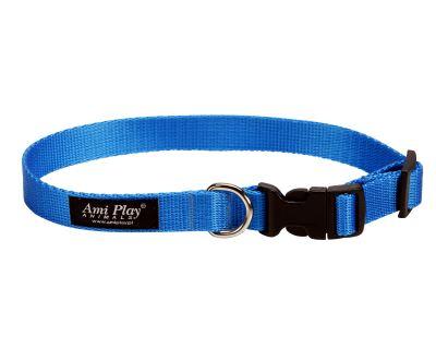 Obojek pro psa nylonový - modrý - 2 x 35 - 50 cm