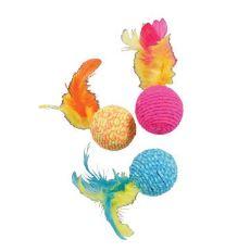 Hračka kočka Elastic Ball mix barev Zolux