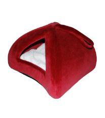 Pelech domek iglů 35x35cm Červená 1ks