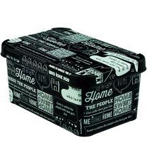 Curver úložný box, HOME, bíločerný, velikost S