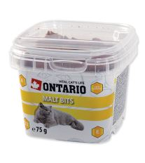 Ontario Snack Malt Bits - pochúťka pre prevenciu bezoárov pre mačky 75 g
