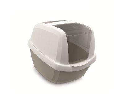 Krytý kočičí záchod komfort Argi - šedý - 49,5x62x47,5 cm