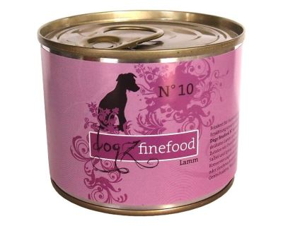 Dogz Finefood No.10 Konzerva - jahňacie pre psov