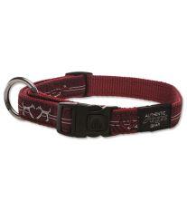 Obojek pre psa nylonový - Rogz Fancy Dress Red Heart - 2 x 34 - 56 cm